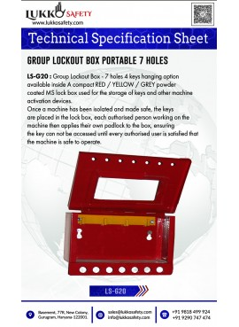Lockout Hasp red plastic...